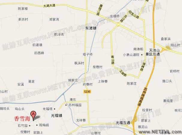 光福景区地图 苏州光福景区交通地图