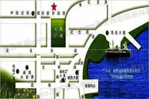 首页 旅游地图 景点交通图 山东旅游地图 威海旅游地图 定远舰博物馆