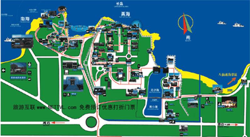 山东蓬莱阁导游地图(蓬莱阁旅游地图 - 打印页 - 旅游