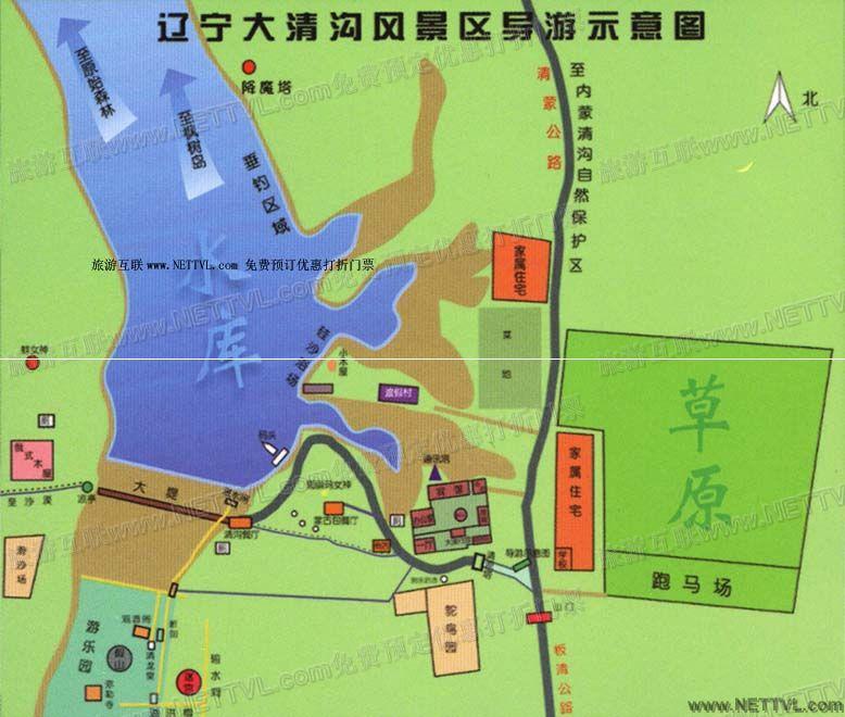 本溪水洞导游地图(辽宁本溪水洞旅游地图                 朝阳凤凰山