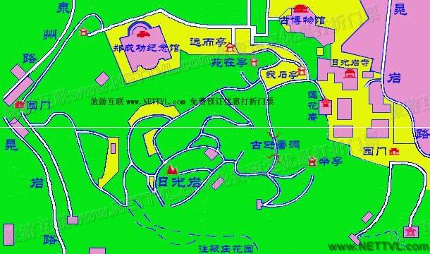 日光岩旅游地图 厦门日光岩景区地图 2017鼓浪屿导游