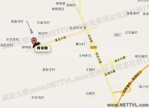 舜帝陵地图(运城舜帝陵交通地图