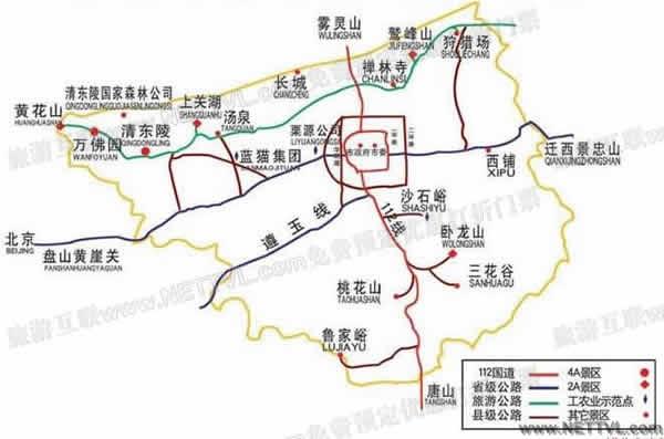 遵化清东陵地图_河北遵化清东陵交通地图【旅游互联】