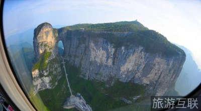 张家界天门山景区推出直升机空中游览线路
