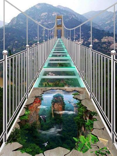平度茶山玻璃桥01_旅游互联