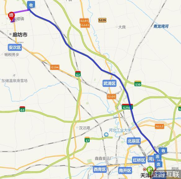 天津到廊坊阿尔卡迪亚酒店路线-旅游互联网