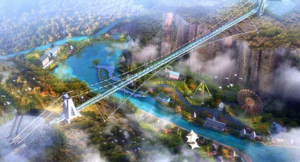 重庆迎龙峡影摄基地 好玩的地方: 这座3d玻璃桥位于巴南区樵坪迎龙