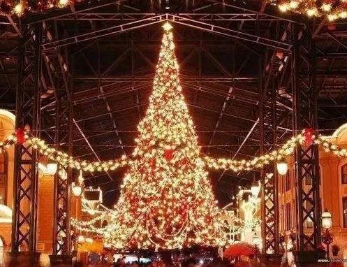 白马时光岛游乐园圣诞树