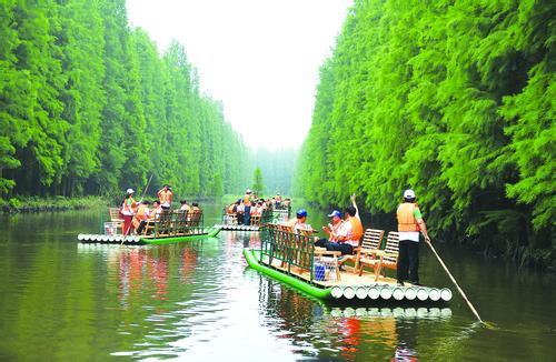 金湖森林公园有竹筏?淮安水上森林公园可以坐竹筏吗?