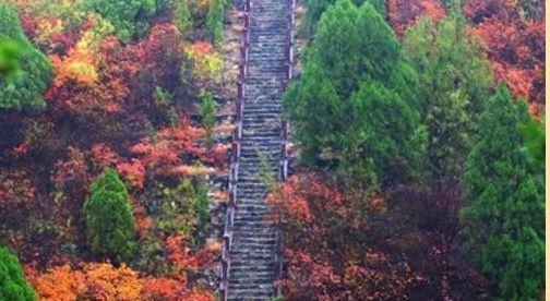 青天河风景区红叶什么时候红?